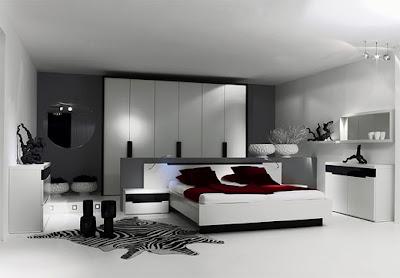 Minimalista dormitorio muebles y decoración de interiores
