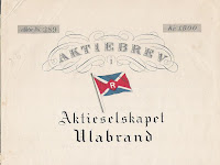 share (upper half) of the Ulabrand shipping company depicting shipping flag