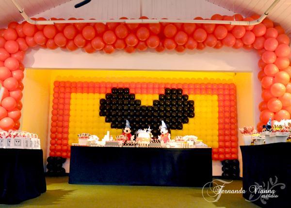 Festa de aniversário infantil Tema Mickey e da Minnie