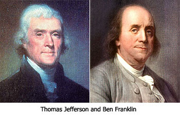 Thomas Jefferson and Ben Franklin