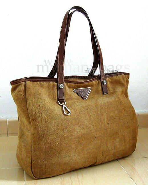 prada canvas & saffiano cuir satchel