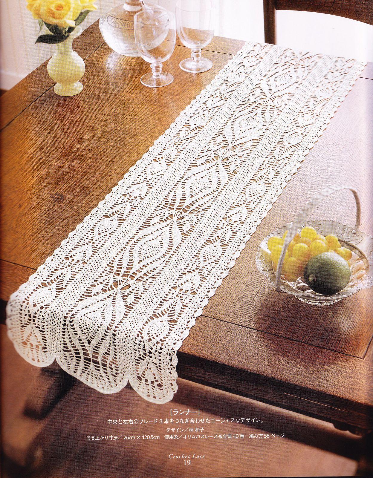 Camino de mesa a crochet 3