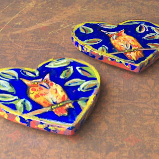 Owl Love ,one of a kind hand-painted owl magnets