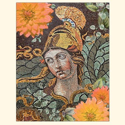 Athena - Mosaic and Flowers Card