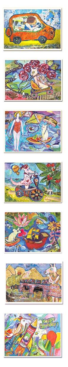 My Fun Collage Greeting Cards