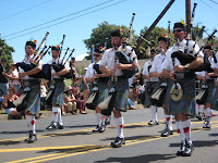 Hawaiian Bagpipers in Maui parade