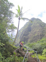 Trail steps in Iao Valley State Park, Maui, Hawaii