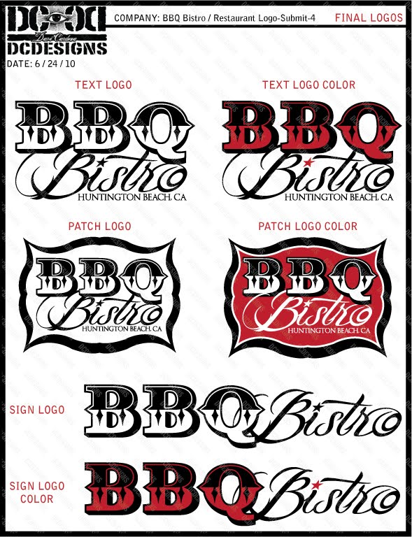 BBQ Bistro, Huntington Beach-Logo Design