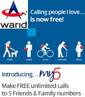 Warid Pakistan My 5