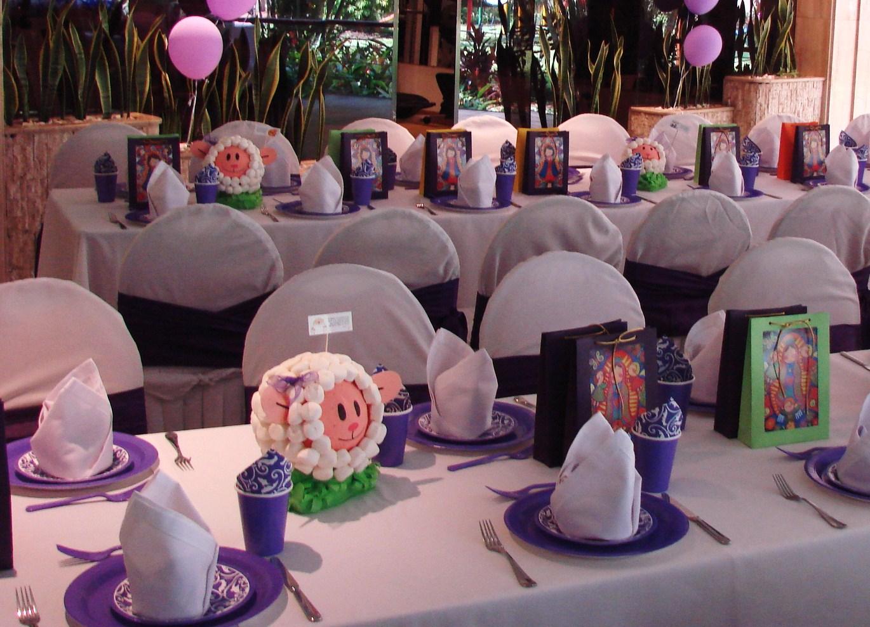 Decorar mesa para primera comuni n decorar tu casa es - Como decorar un salon para comunion ...