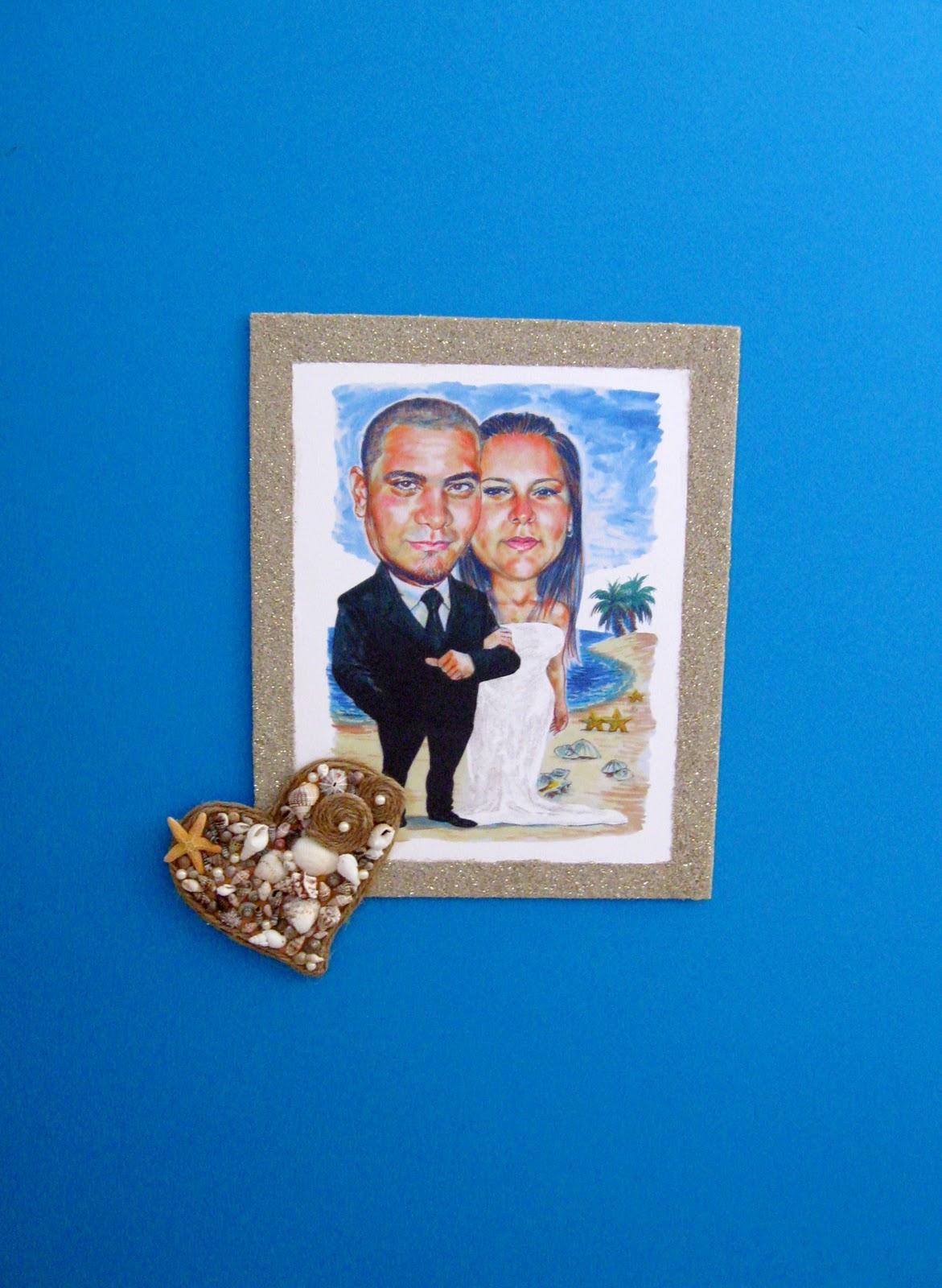 Yaritza Madera Creations: Fotos cuadros de firma tema marino en la boda!