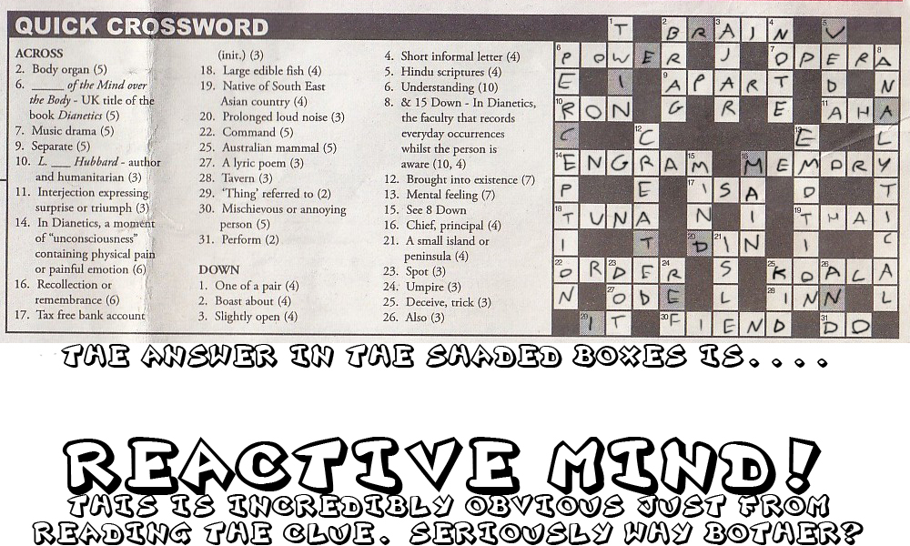 Religious Tracts And Pamphlets: So who here likes crosswords? Also ...