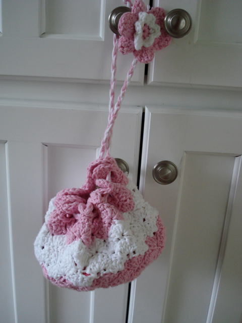 Crochet Bag For Little Girl : Filled with all the girly essentials -- Lip Smackers, hair clips ...