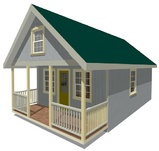 Country porch properties cabin shell kits for Kit homes duplex