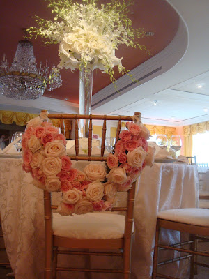 with the flowers around it they also had white centerpieces with lilies