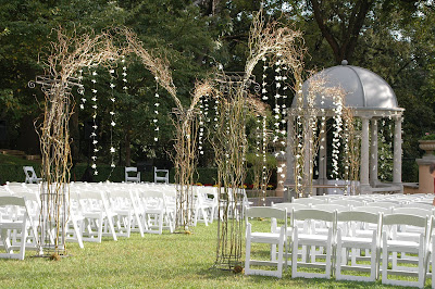 Wedding Ceremony Canopy on Omni Shoreham Wedding  Ceremony Decor Dendrobium Orchids Hanging On