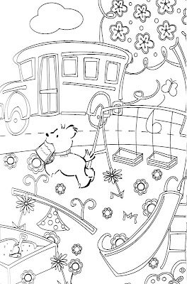 i photocopied the pages so that the girls will be able to color and craft to their hearts content - American Girl Coloring Pages