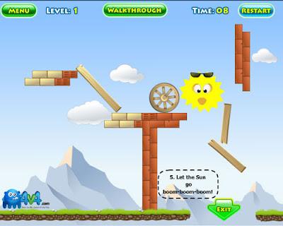SunnyBoom, juego de fisica, juego de estrategia