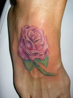 Rosa no pé