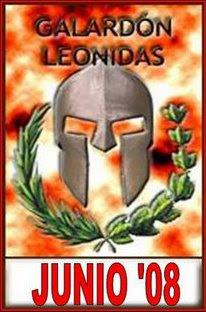 GALARDÓN LEONIDAS DE LA BLOGOSFERA JULIO'08