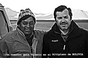 Con Valerio a -15ºC en Bolivia