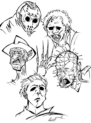 The Blog Of Brendan Corris October 2009 Horror Coloring Pages