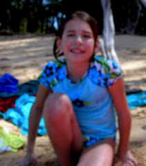 Isabel at beach.