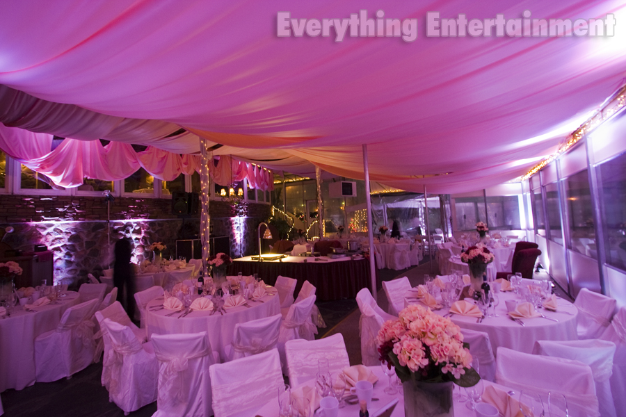 Wedding Ceiling Drapery and Lighting