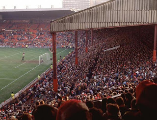 A packed Stretford End