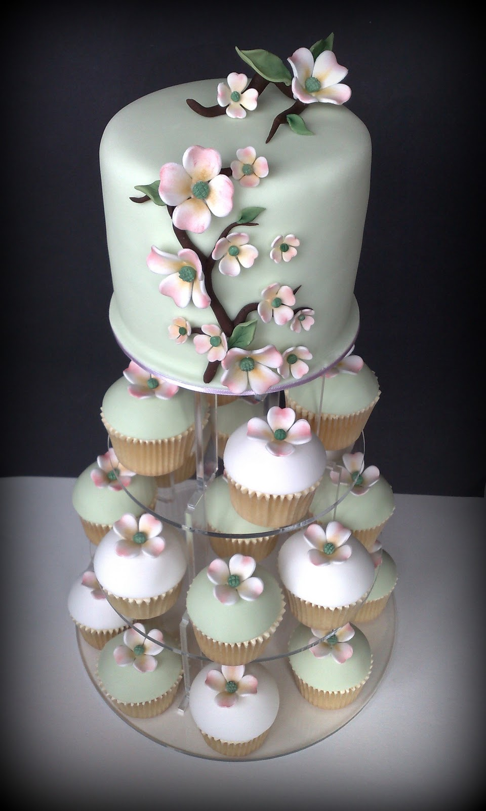 small things iced dogwood wedding cupcakes cutting cake. Black Bedroom Furniture Sets. Home Design Ideas