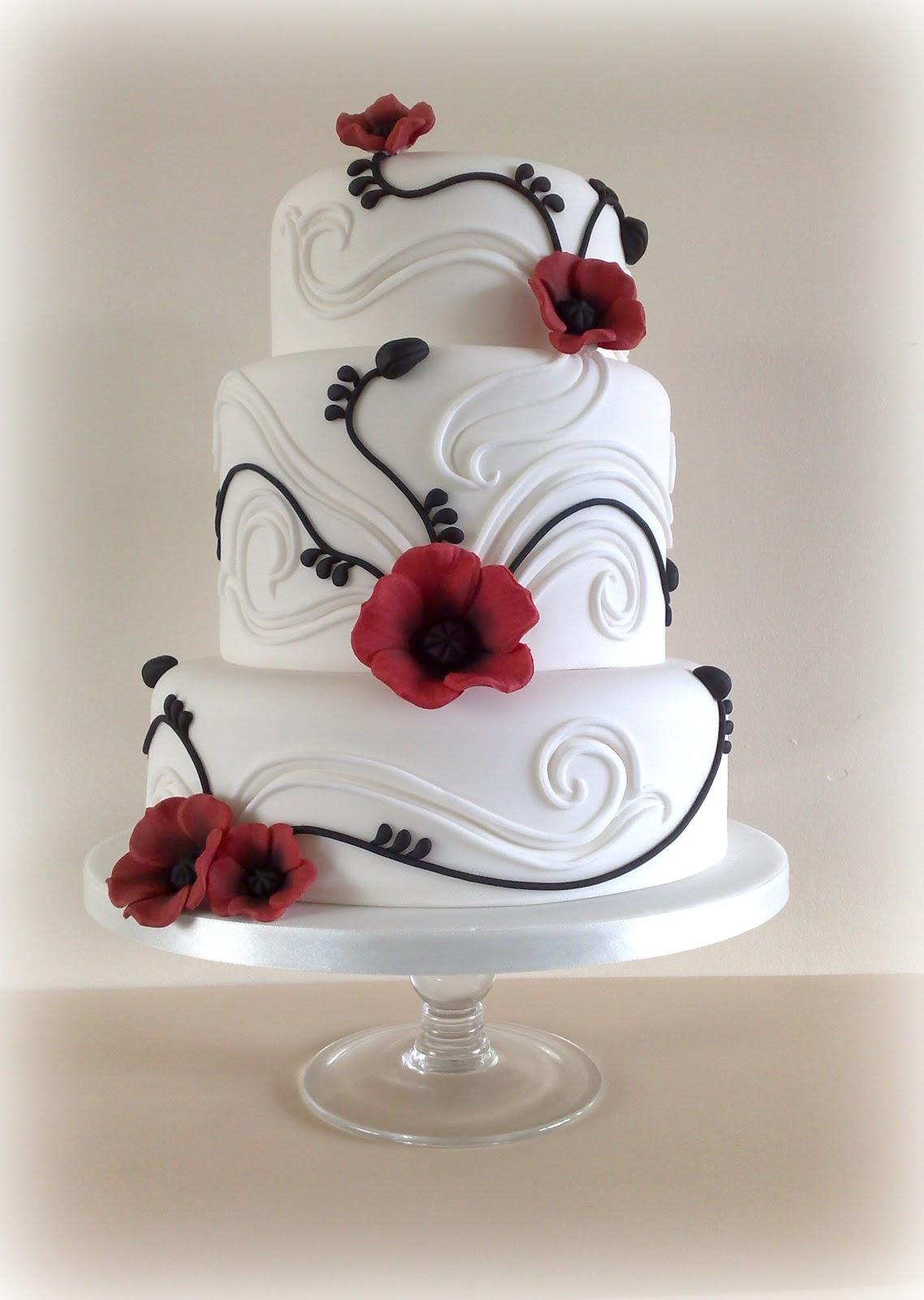 Small Things Iced: Poppy Wedding Cake
