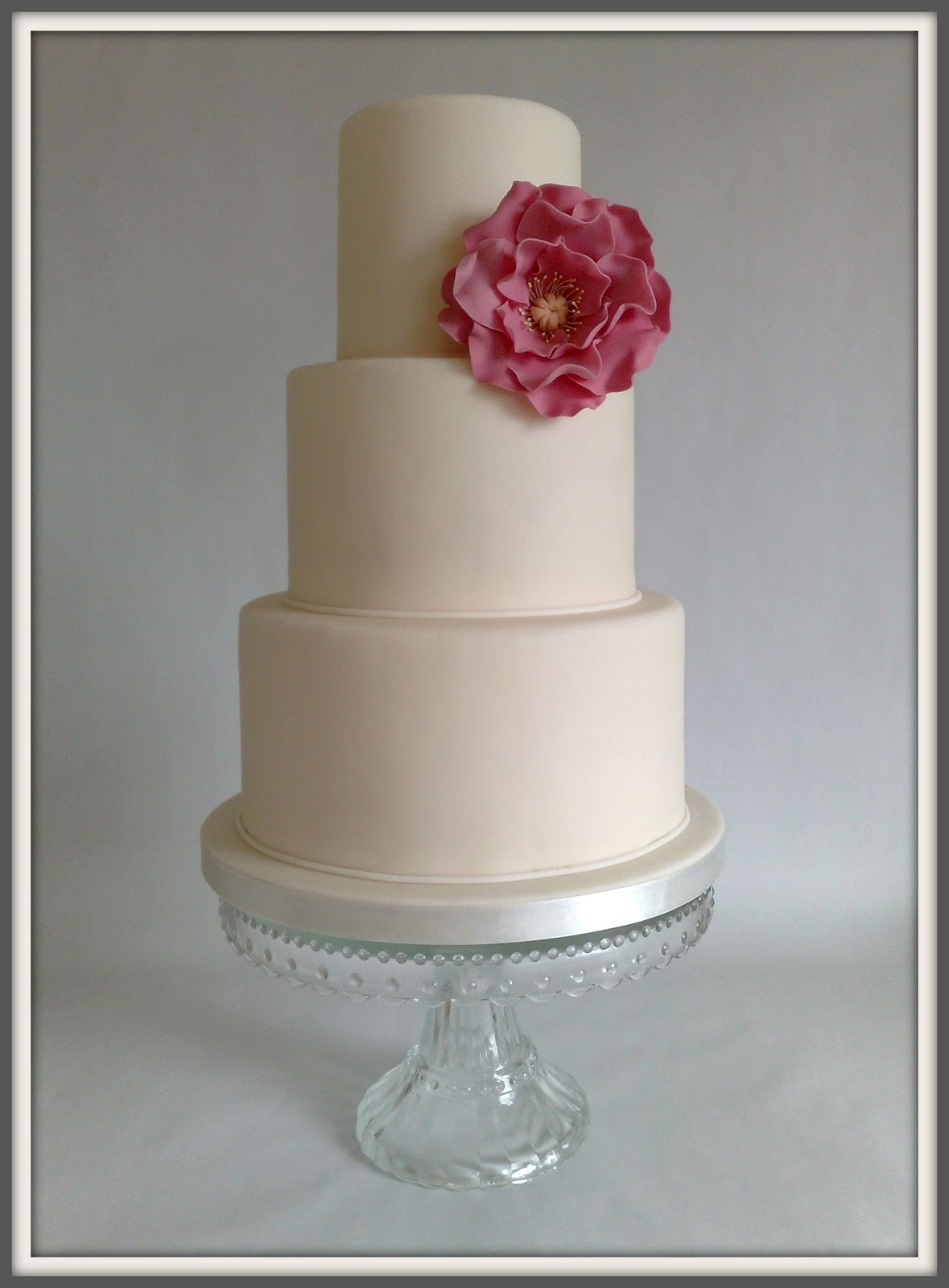 "Wedding Series by Small Things Iced ""Michelle"" Wedding Cake"