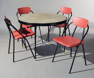 Decorator Depot 1950 39 S Folding Table And Chairs For Sale