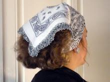 Crochet trimmed bandanna