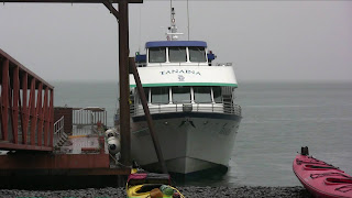 MV Tanaina docked at Fox Island