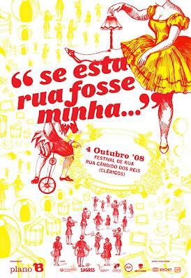 cartaz do Festival de rua 'Se esta rua fosse minha...'