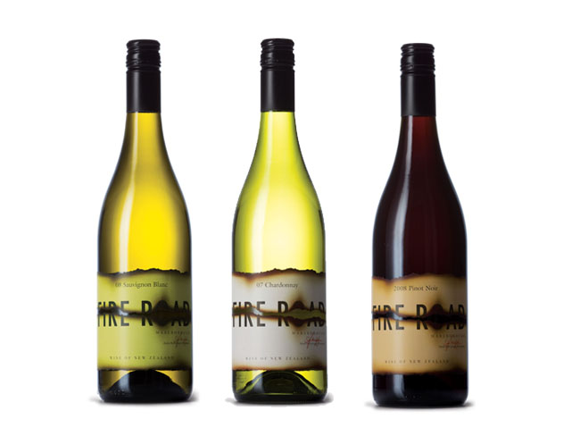 FireRoad Chardonnay group Wine Design: Beautiful and Inspiring Wine Bottle Designs