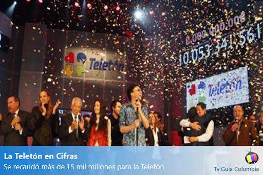 Tv Guía Noticias: Teletón Colombia recaudó más de 15 mil millones de pesos