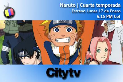 LUN 17/01: City tv estrena Última temporada de Naruto