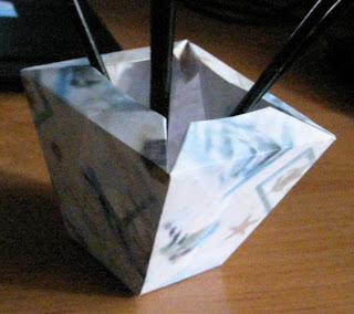 Вазочка-оригами