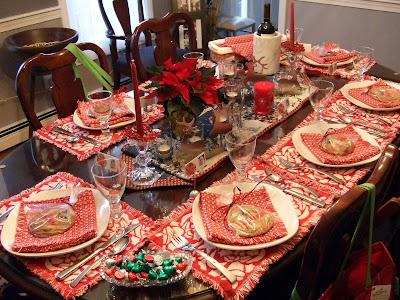 Table Setting Pre-Christmas Family Dinner & a little bit of everything: Table Setting: Pre-Christmas Family Dinner