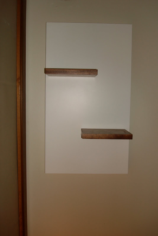 Floating Wooden Wall Shelf