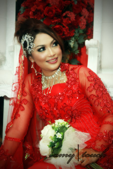 tg saleha in chilli red