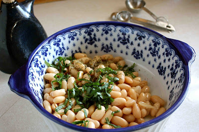 and pine nuts barley stew with caramelized onions white beans spinach ...