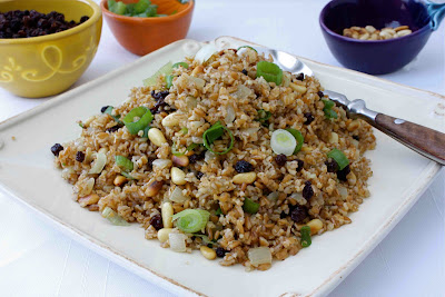 perfect pantry s bulgur with cheese eggplant kalyn s kitchen s bulgur ...