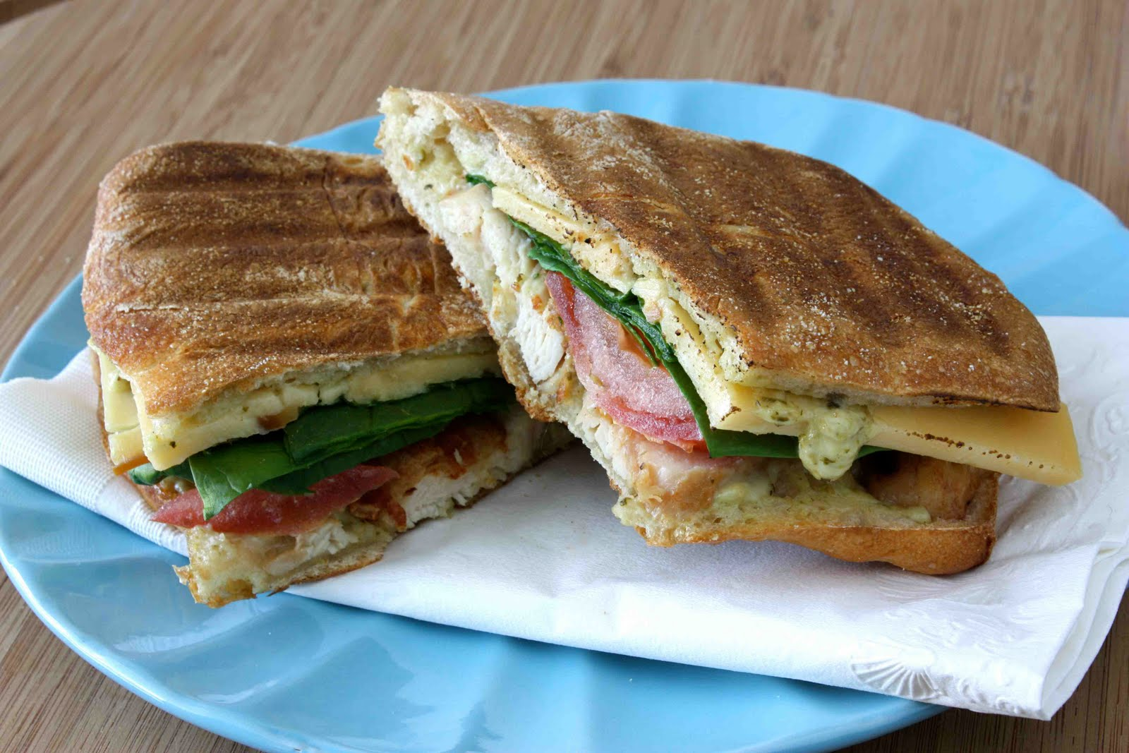 Grilled Chicken, Bacon & Smoked Gouda Panini with Pesto Mayonnaise ...