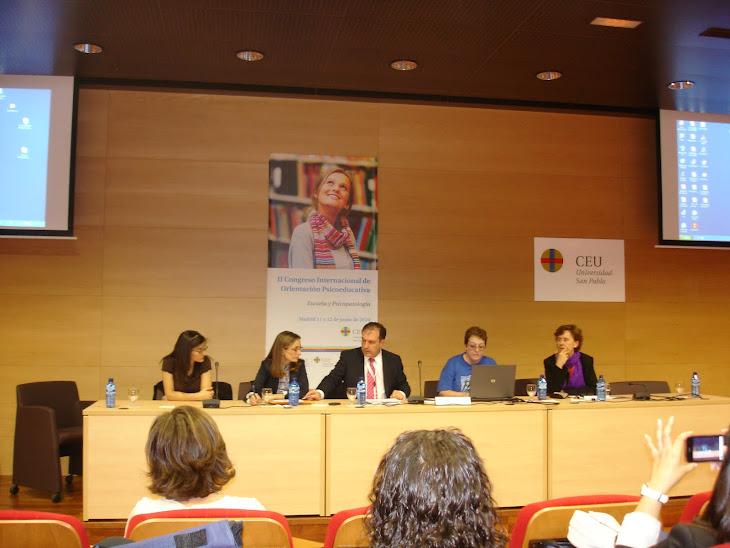 II CONGRESO INTERNACIONAL DE ORIENTACIÓN PSICOEDUCATIVA. Madrid, 11 y 12 de junio de 2010