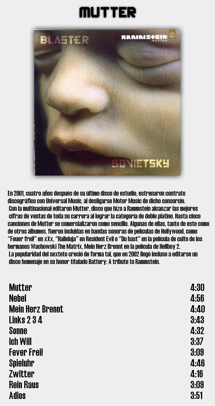 Rammstein - Discografia de estudio completa en calidad 320Kbps [MU] 5