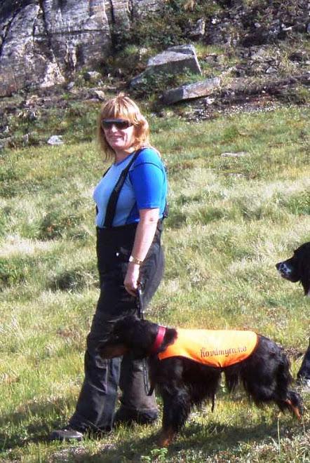 Anne Beth med Ixi på Sirdal høst