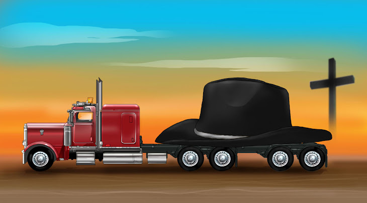 HAT FUNERAL with TRUCK illustration